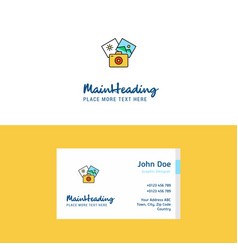 flat photography logo and visiting card template vector image