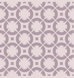 floral geometric ornament in pale purple tones vector image