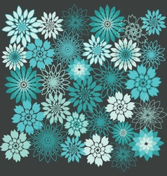 Flower Background Floral Seamless Background vector
