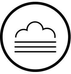 Fog icon vector