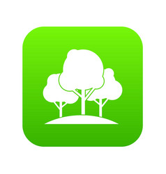 forest trees icon digital green vector image