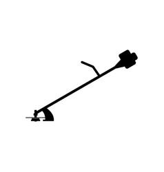 Gas petrol portable lawnmower icon vector
