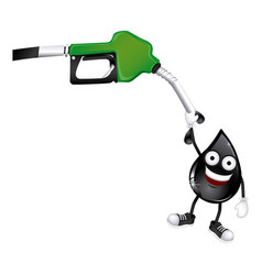 green nozzle with dark gray drop vector image