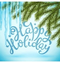 Happy holiday poster vector image
