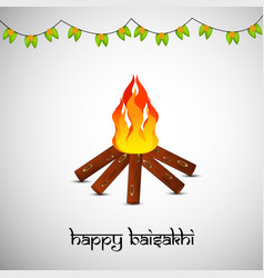 indian festival baisakhi vector image