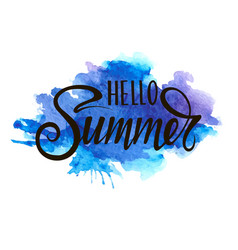 inscription - hello summer vector image