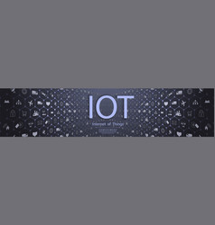 internet things iot and networking concept vector image
