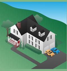 Isometric 3d country house vector