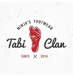 Japanese Ninja Logo Footwear insignia design vector