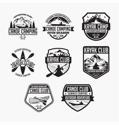 Kayak 1 logo badge vector