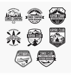 kayak 1 logo badge vector image