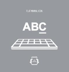 keyboard type - flat minimal icon vector image