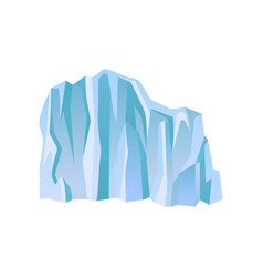 large blue iceberg or ice mountain with lights and vector image
