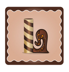 Letter l candies chocolate vector