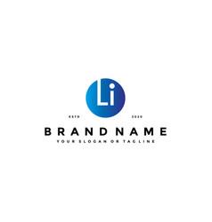 Letter li logo design vector