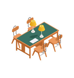 library table vector image