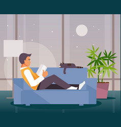 man leisure vector image