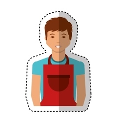 Man with apron character vector
