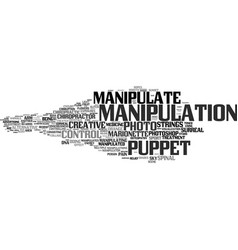 manipulate word cloud concept vector image
