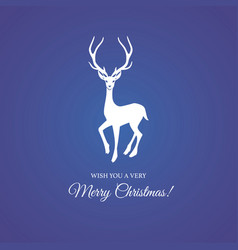 Merry christmas and festive deer vector