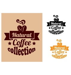 Natural coffee banners set vector image