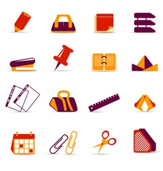 office accessories icons vector image