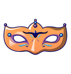 orange carnival mask icon cartoon style vector image