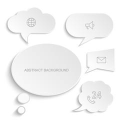 paper speech bubbles set white vector image