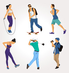 people activity collection vector image