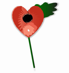 Poppy heart vector