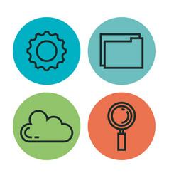 programming languages set icons vector image