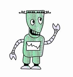 Robot Sketch doodle vector image