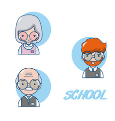 School teachers cartoon vector