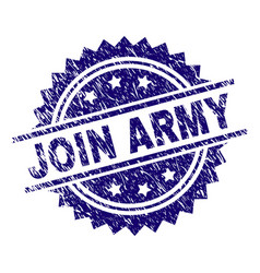 Scratched textured join army stamp seal vector