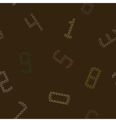 Seamless background with numbers vector image