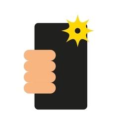 selfie photographic smartphone icon vector image