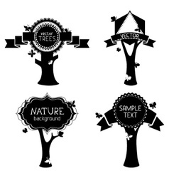 Set of trees with labels vector