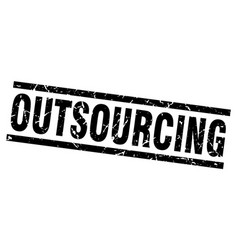 square grunge black outsourcing stamp vector image