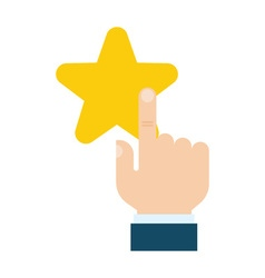 star with a pointing hand vector image