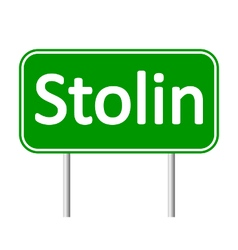 Stolin road sign vector
