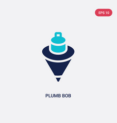 Two color plumb bob icon from construction vector