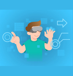 virtual reality vector image