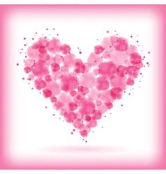 watercolor heart vector image