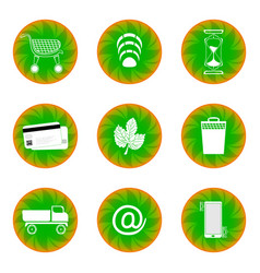 web button for website green with white vector image