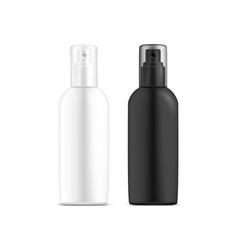 White black blank or empty bottle for deodorant vector