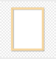 white blank picture with wooden frame vector image