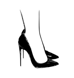 Woman feet in high heels icon vector