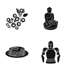 Ages history museum and other web icon in black vector