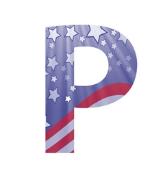 american letter P vector image vector image