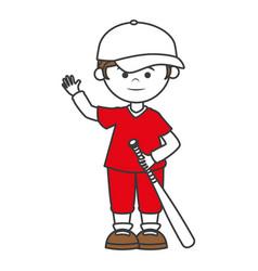 baseball player with bat avatar character vector image